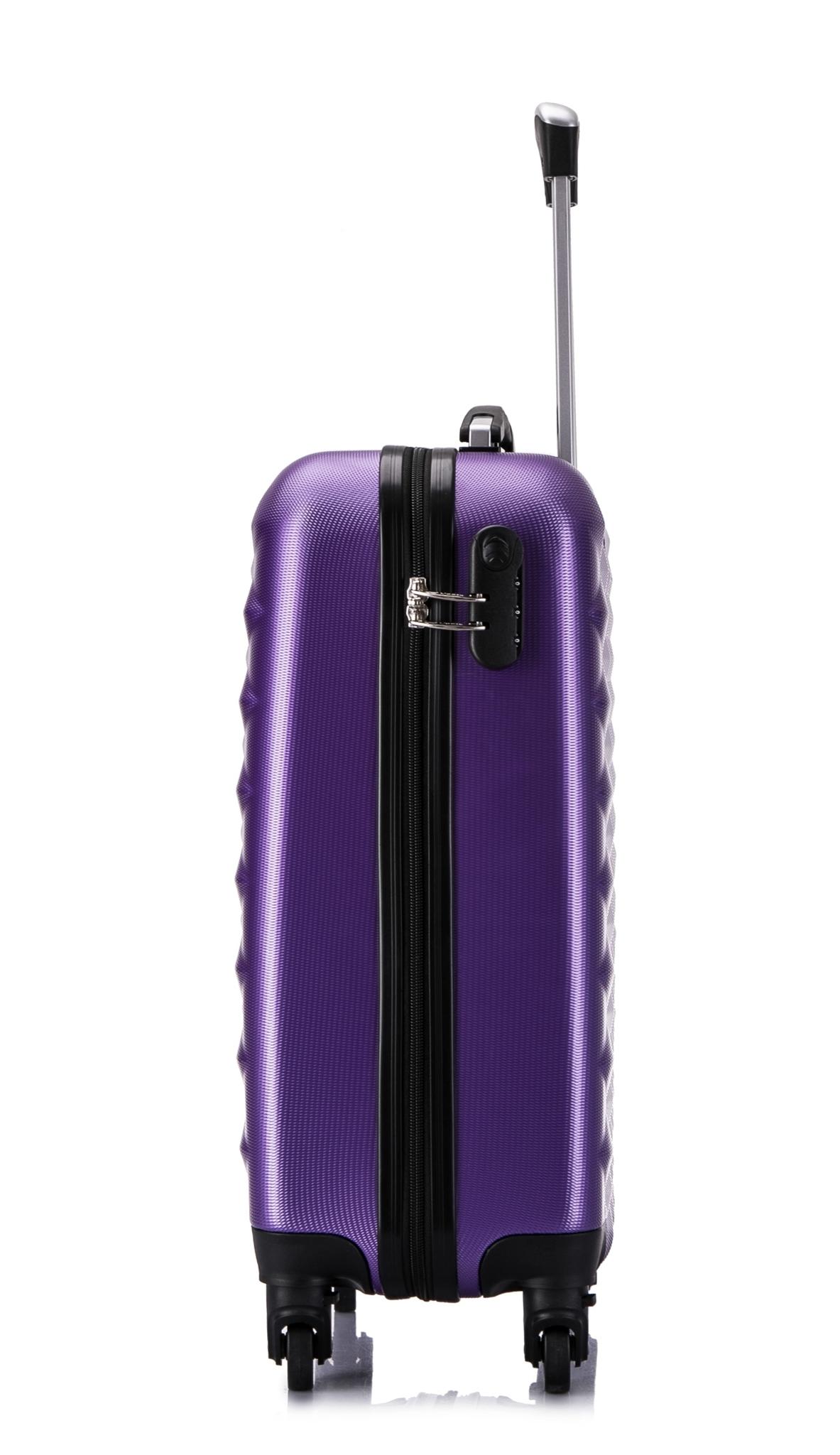 Чемодан со съемными колесами L'case Phatthaya-20 Фиолетовый ручная кладь (S)