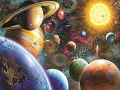 Картина раскраска по номерам 40x50 Космос