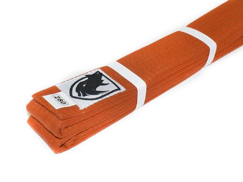 Пояс RHINO для кимоно карате. Цвет оранжевый. Длина 2,80 м. Материал:  хлопок.