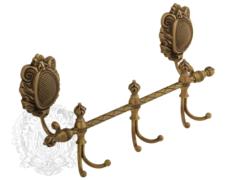 Планка с 3-мя двойными крючок двойной Migliore Cleopatra ML.CLE-60.739