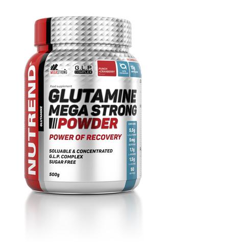Nutrend Глютамин Мега стронг 500г/GLUTAMINE MEGA STRONG 500g (Пунш-клюква)