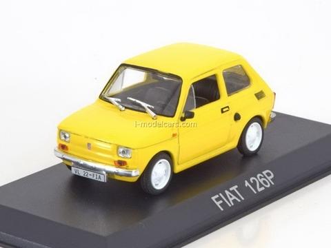 Fiat 126P yellow 1:43 DeAgostini Masini de legenda #34