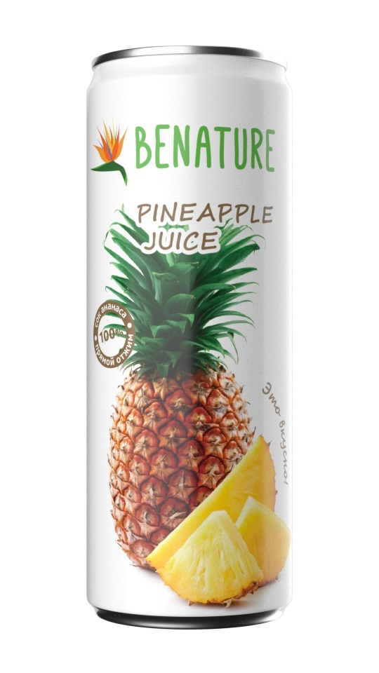 Сок ананаса 100%  Benature ж/б 250мл
