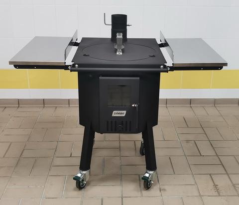 Печь для казана дровяная SMAGA XL с нерж столами