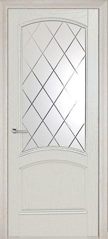 Дверь Луидор Криста Лайт, стекло с гравировкой