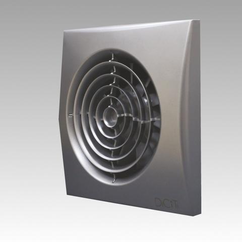 Вентилятор Эра AURA 4C DARK GREY METAL D100 с обратным клапаном