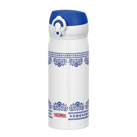 Термокружка Thermos JNL-402-BLWH SS (0,4 литра), бело-синяя