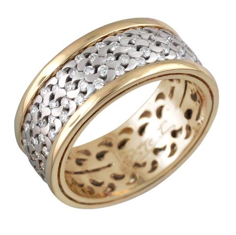 Обручальное кольцо крутящееся из золота 750 пробы арт.01О680170