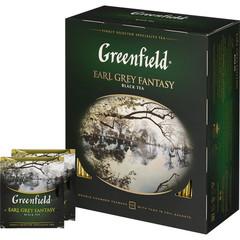 Чай Greenfield Earl Grey Fantasy черный с бергамотом 100 пакетиков
