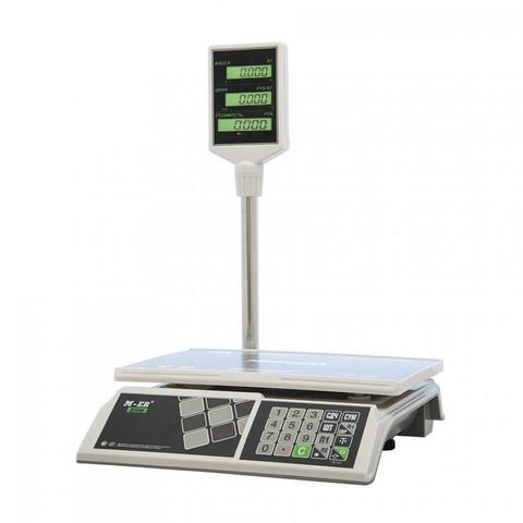 Весы  торговые Mercury M-ER 326АСР-15.2 с АКБ (со стойкой) LCD Slim