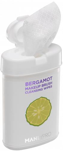 MANLY PRO очищающие салфетки для кистей c маслом бергамота 50 шт