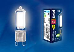 LED-JCD-4W/NW/G9/CL GLZ01TR Лампа светодиодная, прозрачная. Белый свет (4000К). Картон. ТМ Uniel