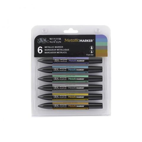 Набор маркеров W&N METALLIC MARKER 6шт металлик