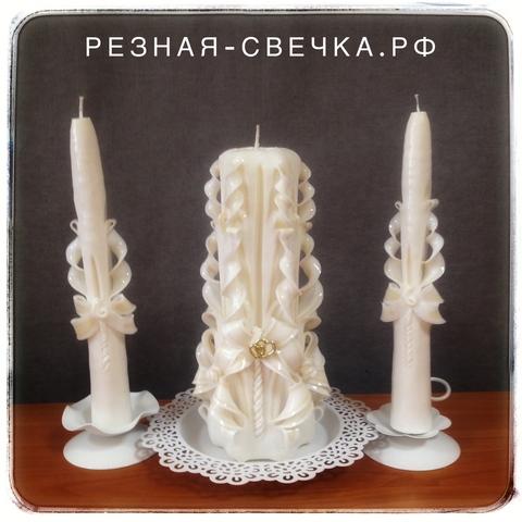 Семейный очаг Невинность -  резные свечи на свадьбу