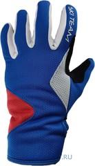 Лыжные перчатки Ski Team K19002WBR бело-сине-красный