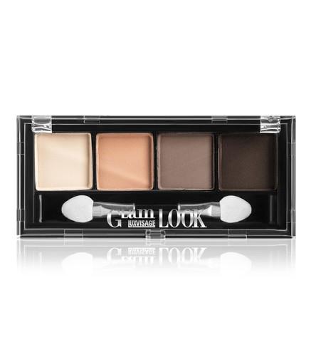 LuxVisage Glam Look Матовые тени для век 4-х цветные тон 2 (кофейная)