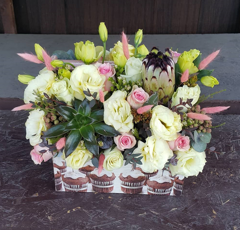 Ящик с цветами весенний 3