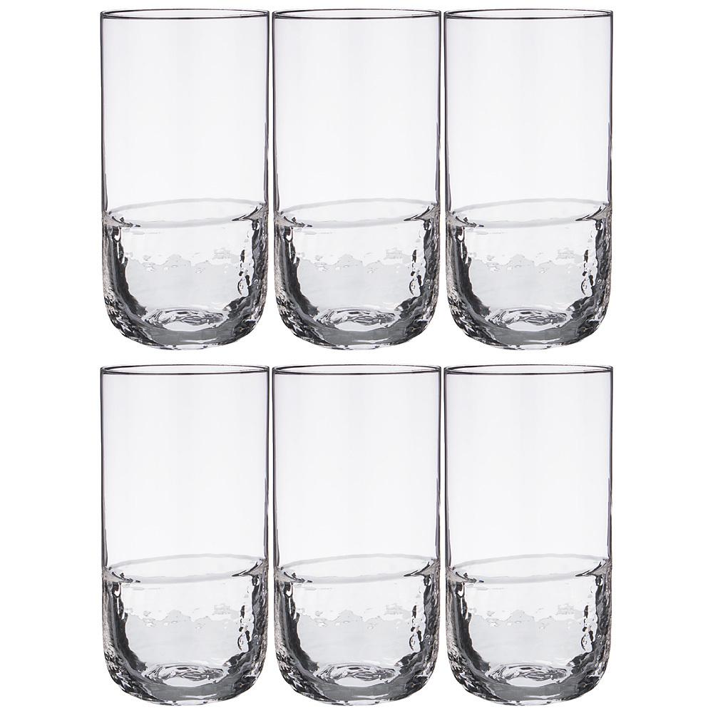 Набор стаканов для воды АЙСБЕРГ 6 шт, 550 мл набор стаканов для воды 6 шт crystalite bohemia набор стаканов для воды 6 шт