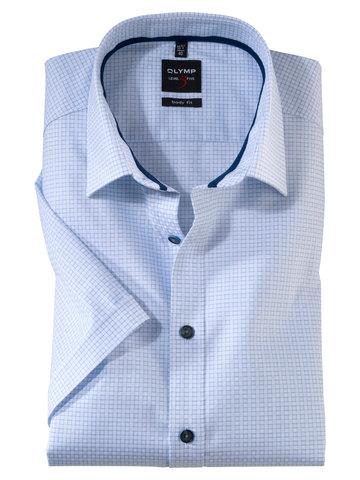 OLYMP LEVEL FIVE, BODY FIT хлопковая сорочка с коротким рукавом