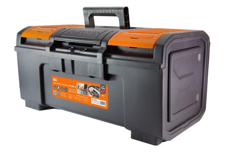 Ящик для инструментов ПРОФИ-16, 39х22х16 см, усилен., замок-автомат, лоток, органайзеры, «Рубин» TDM