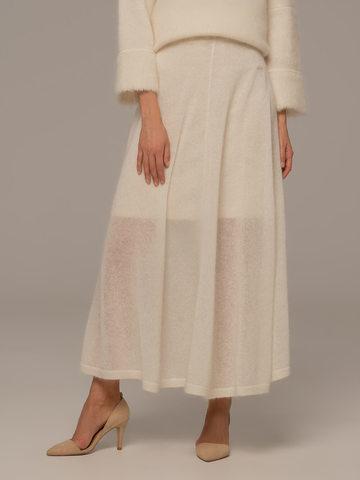 Женская юбка белого цвета - фото 5