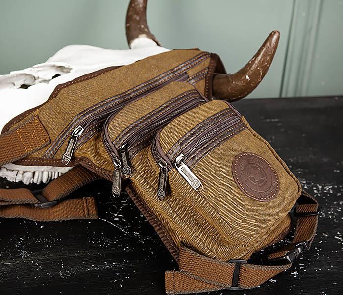 BAG505-2 Вместительная текстильная сумка на ногу фото 02