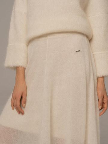 Женская юбка белого цвета - фото 6