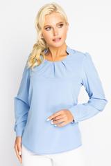 <p><span>Респектабельная блузка обеспечит Вам потрясающий успех! Модный фасон горловины украшен встречными складками.</span></p>
