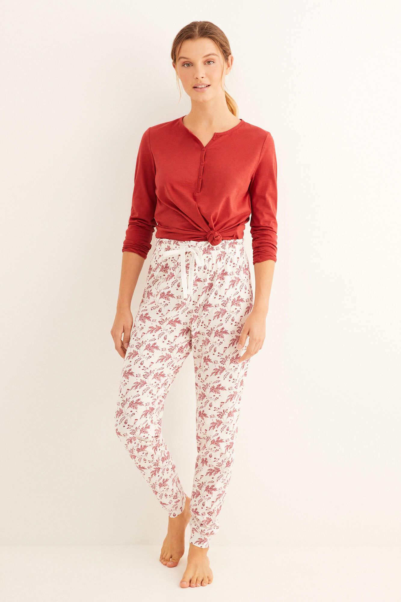 Довгі піжамні штани з бавовни з принтом