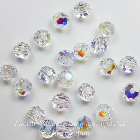 5000 Бусина - шарик с огранкой Сваровски Crystal AB 6 мм ()
