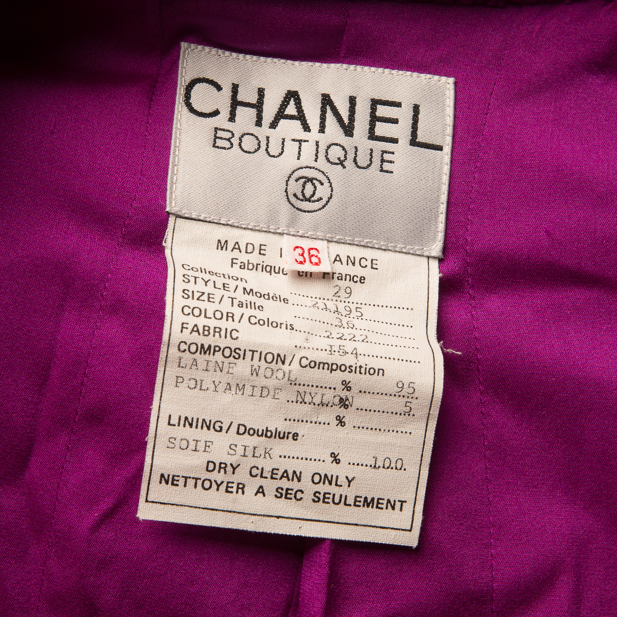 Luxurious Chanel  jacket, 36 size