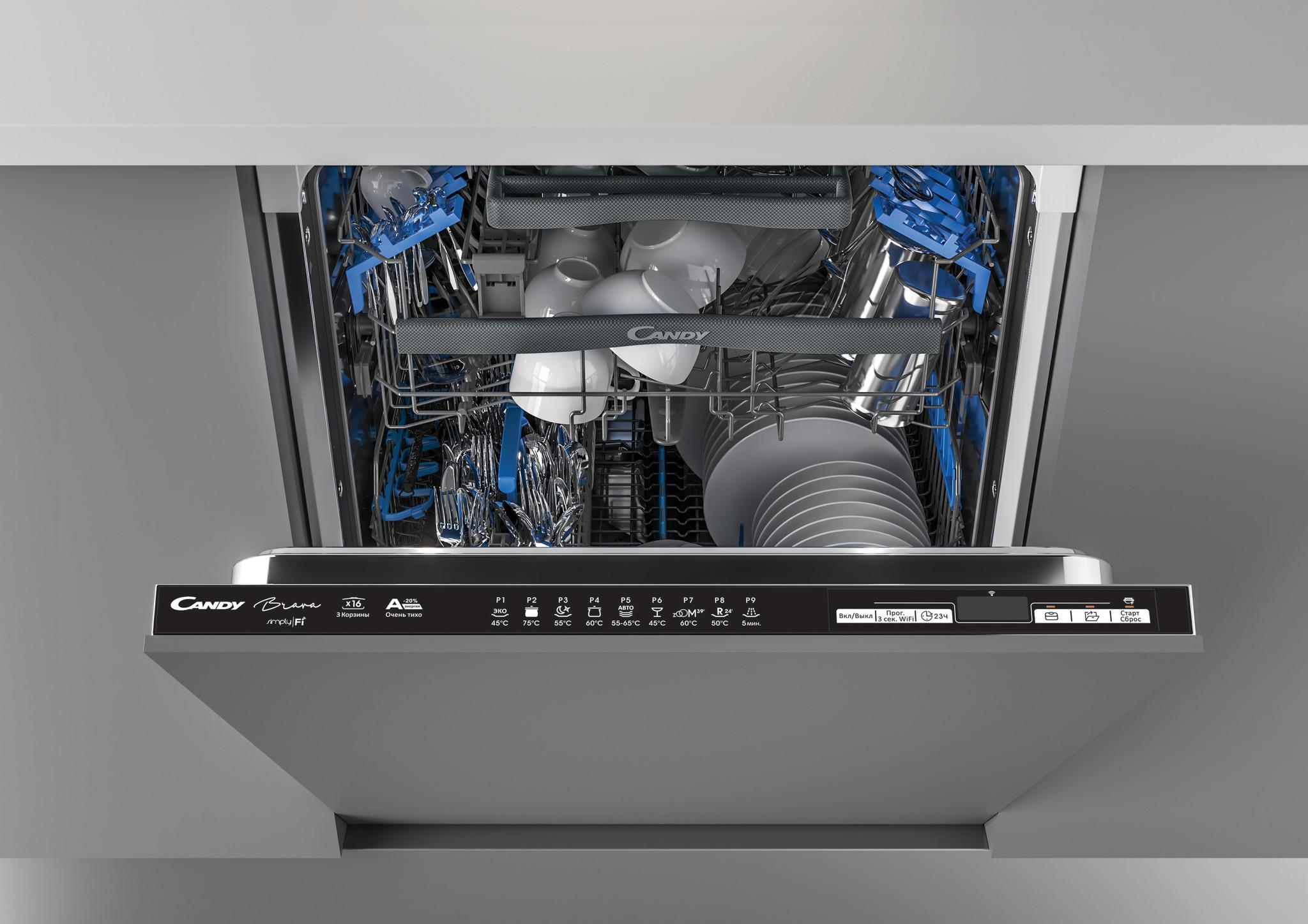 Посудомоечная машина Candy Brava CDIN 3D632PB-07 фото