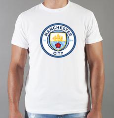 Футболка с принтом FC Manchester City (ФК Манчестер Сити) белая 001