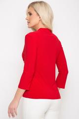 <p>Элегантная приталенная блузка на все случаи жизни. Ассиметричный крой с мягкой драпировкой по боку придает комфорта и может сочетаться со многими изделиями Вашего гардероба.<span>(Длины: 44-46=56см; 48-50=57см)&nbsp;</span></p>