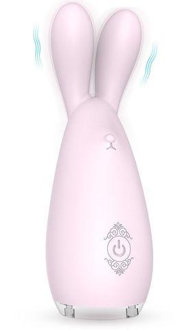 Нежно-розовый вибромассажёр REBA с ушками