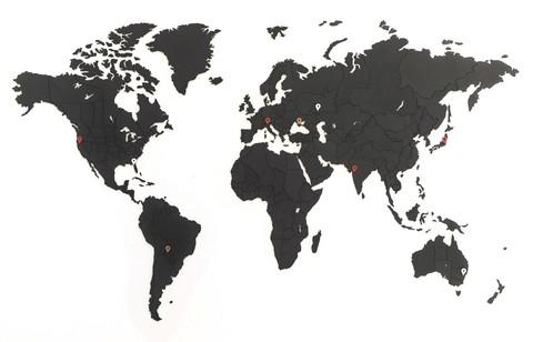 Пазл карта мира True Puzzle Black 100 x 60 cm