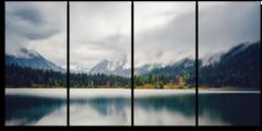 "Модульная картина ""Туман над озером"""