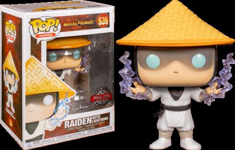 Фигурка Funko Pop! Games: Mortal Kombat - Raiden with Lightning (Excl. to GameStop)