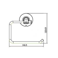 Держатель для туалетной бумаги KAISER Bronze II KH-4000 схема