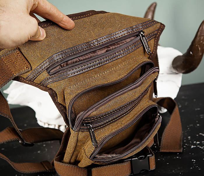 BAG505-2 Вместительная текстильная сумка на ногу фото 07