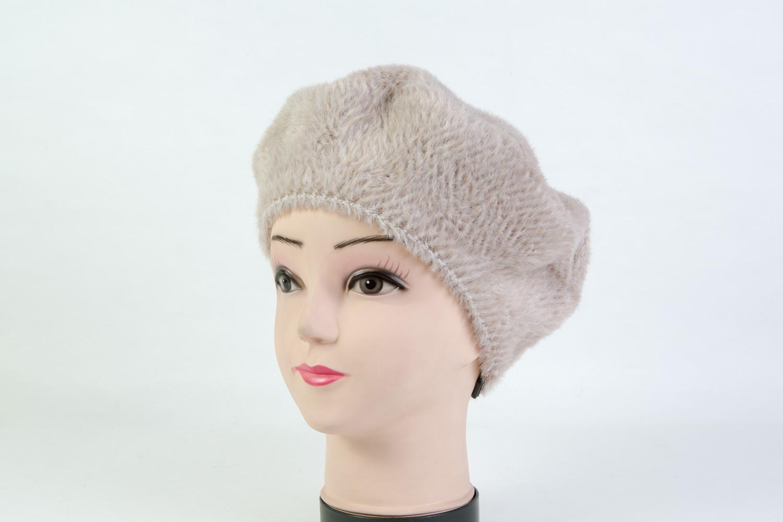 Женская шапка берет бежевая SH B9082D bege
