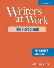 Writers at Work: The Paragraph TM
