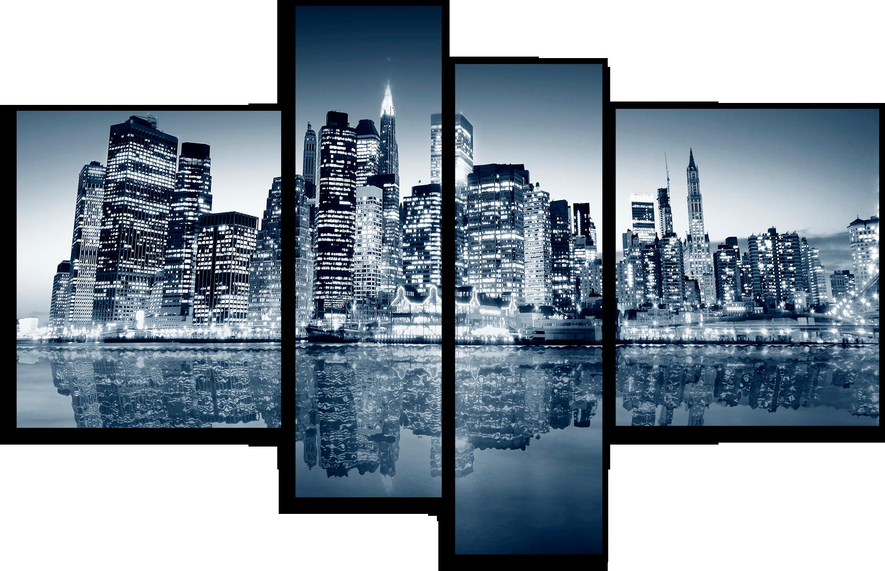 """Модульные картины Модульная картина """"Ночной Нью-Йорк"""" М80.png"""