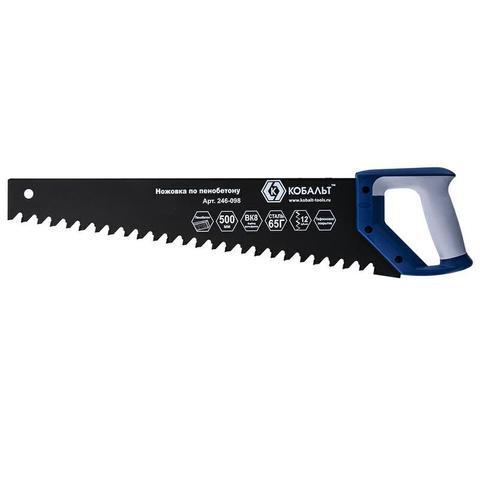 Ножовка по пенобетону КОБАЛЬТ 500 мм, 1 TPI, тефлоновое покрытие твердосплавные напайки на (246-098)