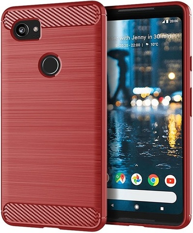 Чехол Google Pixel2 XL цвет Red (красный), серия Carbon, Caseport