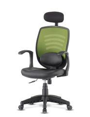Компьютерный стул с поддержкой поясницы и подголовником Smart 2101C