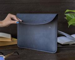 Синий винтажный чехол-конверт Gmakin для Macbook