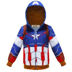 Толстовка с капюшоном Капитан Америка