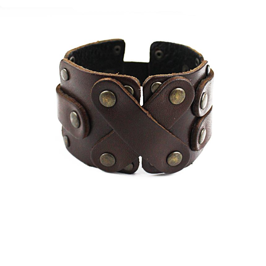 Кожаный браслет TRONIN N-23BR
