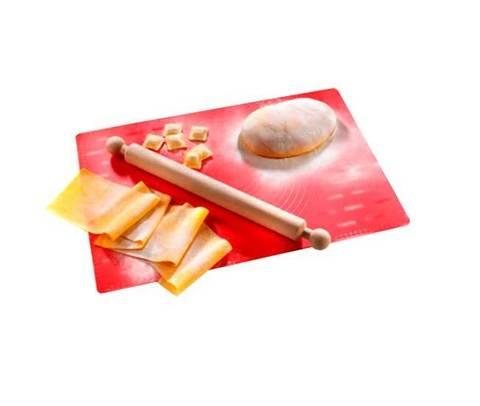 Силиконовый коврик для  раскатки и выпечки теста и скалка в одном наборе Imperia FoglioCheff 590, фото